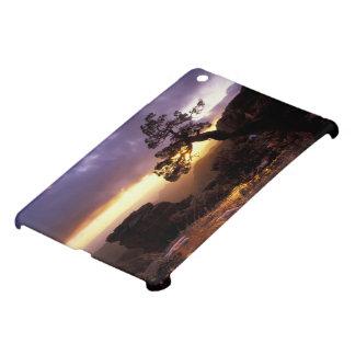 NA, USA, Arizona, Tucson, Sunset and lone iPad Mini Cover