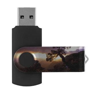 NA, USA, Arizona, Tucson, Sunset and lone USB Flash Drive