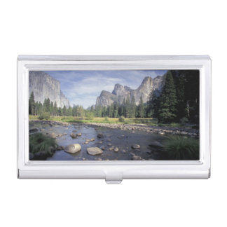 NA, USA, California, Yosemite NP, Valley view Business Card Holder