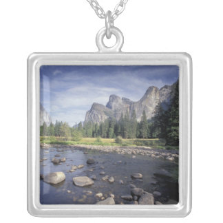 NA, USA, California, Yosemite NP, Valley view Silver Plated Necklace