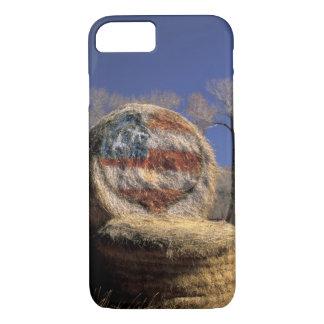 NA, USA, Colorado, Gunnison. Patriotic hay roll iPhone 8/7 Case