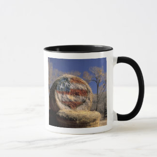 NA, USA, Colorado, Gunnison. Patriotic hay roll Mug
