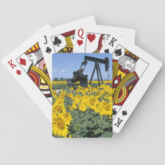 Na, USA, Colorado, Sunflowers, Oil Derrick Playing Cards