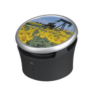 Na, USA, Colorado, Sunflowers, Oil Derrick Speaker