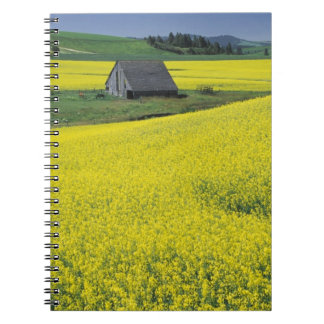NA, USA, Idaho, near Potlatch, Wooden barn and Spiral Notebook