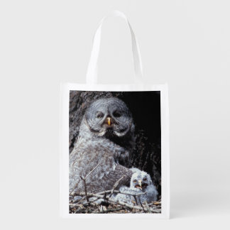 NA, USA, Idaho, Teton Valley. Great gray owl Reusable Grocery Bag