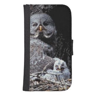 NA, USA, Idaho, Teton Valley. Great gray owl Samsung S4 Wallet Case