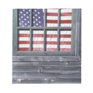 NA, USA, Maine, Georgetown Island. Flag of the Notepad