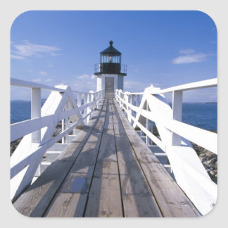 NA, USA, Maine, Port Clyde.  Marshall Point 2 Square Sticker