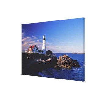 NA, USA, Maine. Portland Head lighthouse. Gallery Wrap Canvas