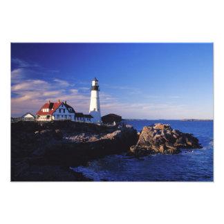 NA, USA, Maine. Portland Head lighthouse. Photo Art