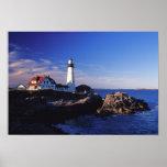 NA, USA, Maine. Portland Head lighthouse. Print