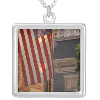 NA, USA, Massachusetts, Nantucket Island, Silver Plated Necklace