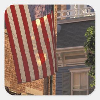 NA, USA, Massachusetts, Nantucket Island, Square Sticker