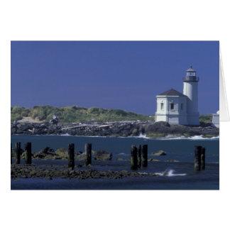 NA, USA, Oregon, Bandon, Coquille Lighthouse Card