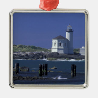NA, USA, Oregon, Bandon, Coquille Lighthouse Christmas Ornament