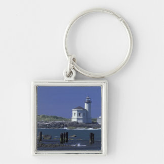 NA, USA, Oregon, Bandon, Coquille Lighthouse Key Ring