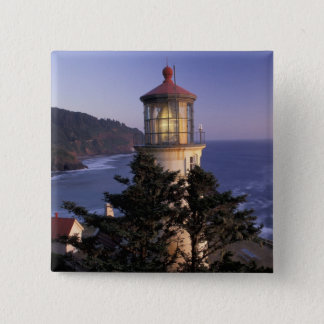 NA, USA, Oregon, Heceta Head Lighthouse, 15 Cm Square Badge