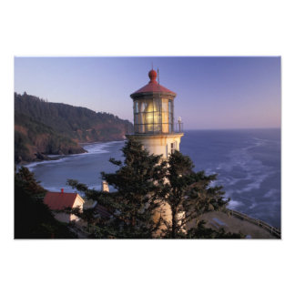 NA, USA, Oregon, Heceta Head Lighthouse, Art Photo