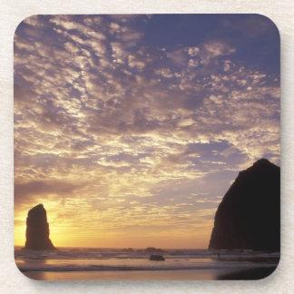 NA, USA, Oregon, Oregon Coast, Canon Beach with Coaster