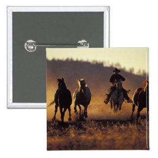 NA, USA, Oregon, Seneca, Ponderosa Ranch, Cowboy 2 15 Cm Square Badge