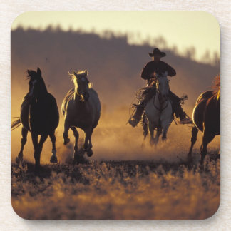 NA, USA, Oregon, Seneca, Ponderosa Ranch, Cowboy 2 Beverage Coasters