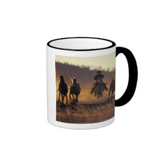 NA, USA, Oregon, Seneca, Ponderosa Ranch, Cowboy 2 Ringer Mug