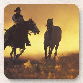 NA, USA, Oregon, Seneca, Ponderosa Ranch, Cowboy 3 Beverage Coasters