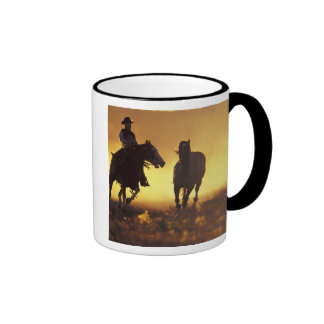 NA, USA, Oregon, Seneca, Ponderosa Ranch, Cowboy 3 Ringer Mug