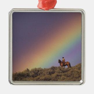 NA, USA, Oregon, Seneca, Ponderosa Ranch, Silver-Colored Square Decoration