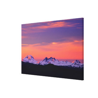 NA, USA, Oregon, The Three Sisters Mountains Canvas Print