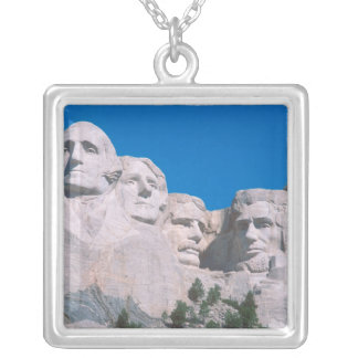 NA, USA, SD, Mount Rushmore. Silver Plated Necklace