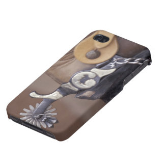 NA, USA, Texas, Lubbock Cowboy boot and spur Case For The iPhone 4