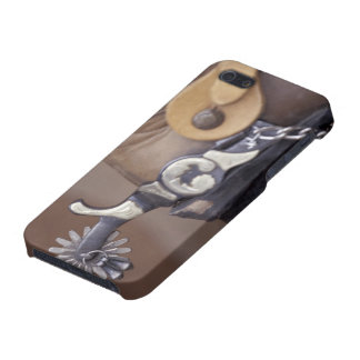 NA, USA, Texas, Lubbock Cowboy boot and spur Case For The iPhone 5