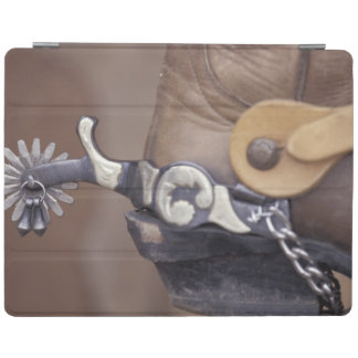 NA, USA, Texas, Lubbock Cowboy boot and spur iPad Cover