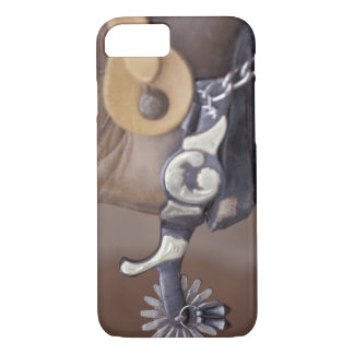 NA, USA, Texas, Lubbock Cowboy boot and spur iPhone 7 Case