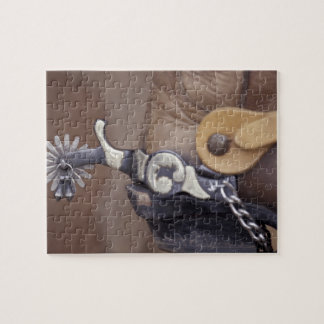 NA, USA, Texas, Lubbock Cowboy boot and spur Jigsaw Puzzle