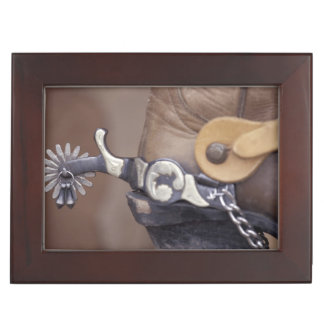 NA, USA, Texas, Lubbock Cowboy boot and spur Keepsake Box