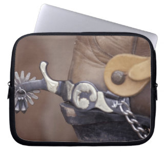 NA, USA, Texas, Lubbock Cowboy boot and spur Laptop Sleeve