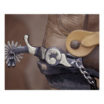 NA, USA, Texas, Lubbock Cowboy boot and spur Poster