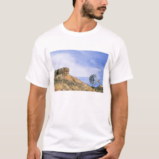 NA, USA, Texas Windmill and cliffs of Palo Duro T-Shirt