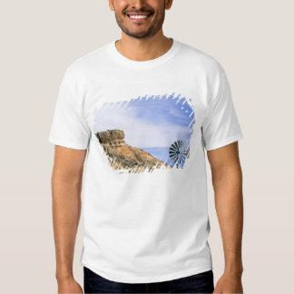 NA, USA, Texas Windmill and cliffs of Palo Duro T-shirts