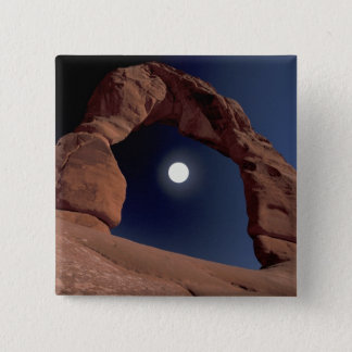 NA, USA, Utah, Arches National Park. Delicate 15 Cm Square Badge