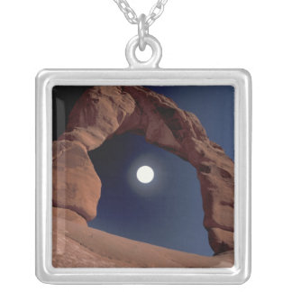 NA, USA, Utah, Arches National Park. Delicate Silver Plated Necklace