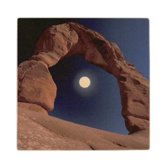 NA, USA, Utah, Arches National Park. Delicate Wood Coaster