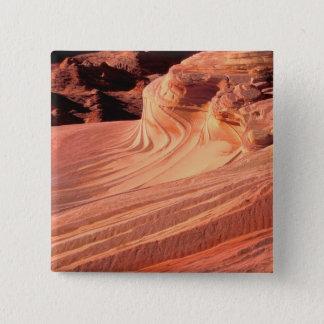 NA, USA, Utah, Vermillion Cliffs. Coyote Butte 15 Cm Square Badge