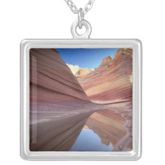 NA, USA, Utah, Vermillion Cliffs. Coyote Butte 2 Silver Plated Necklace