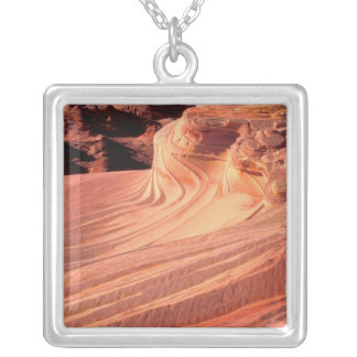 NA, USA, Utah, Vermillion Cliffs. Coyote Butte Silver Plated Necklace