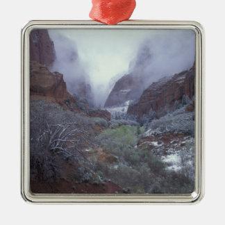 NA, USA, Utah, Zion NP, Spring snow storm, Christmas Ornament