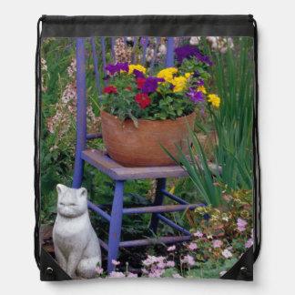 NA, USA, WA, King County, Seattle, Garden, Drawstring Bag